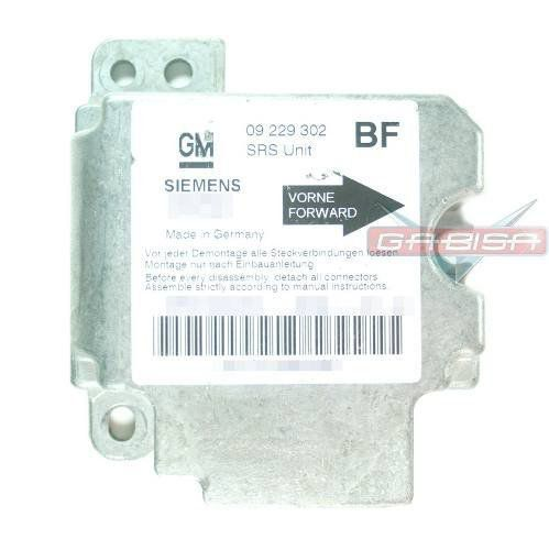 Modulo Central ECU Centralina de Air Bag Siemens 330518850 5wk42925 BF 09229302 Gm Astra 99 00 01 02 03 04 05 06 07 08 09 010 011