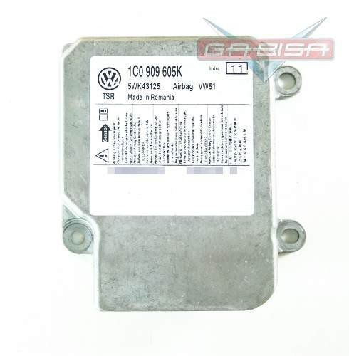 Modulo Central ECU Centralina de Air Bag 1c0909605k 5wk43125 Vw Fox Cross Space 09 010 011 012
