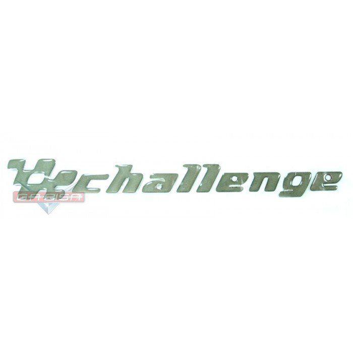 Adesivo Emblema Lateral Challenge Cinza p Gm Vectra 01 Á 05