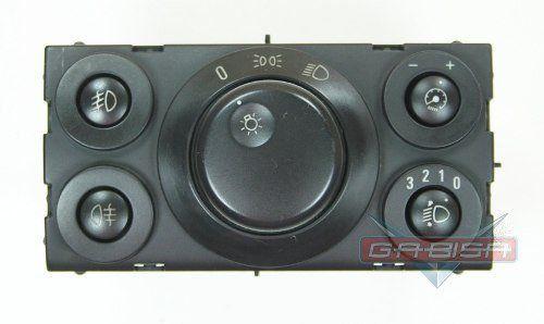 Conjunto Botão Interruptor De Farol Milha Neblina Reostato Do Painel 93318013 Gm Vectra 06 07 08 09 010 011 012