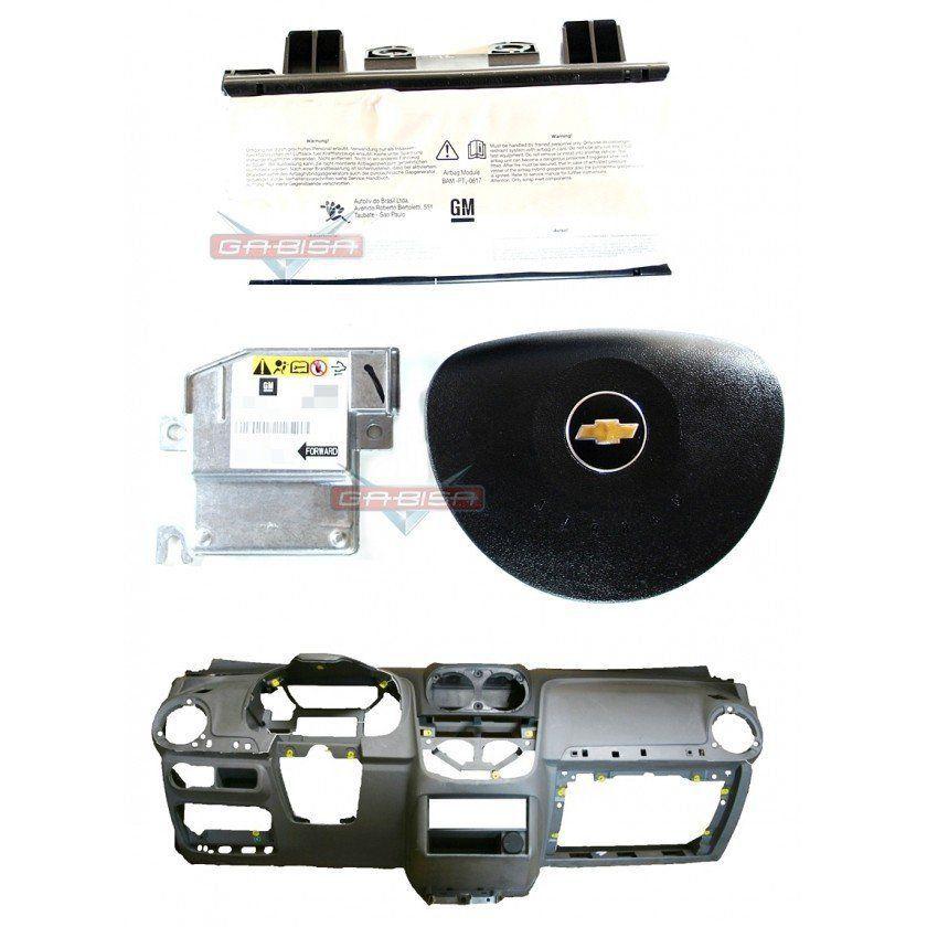 Kit Air Bag  Agile 011 013 Bolsas Modulo Painel Cinza