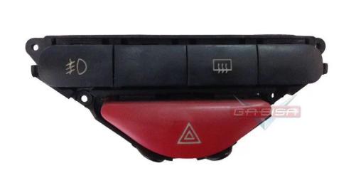 Botão Alerta  Desembaçador Milha Do Painel Fiat Palio Siena G2 Fire 99 00 01 02 Modelo 2 Plugs