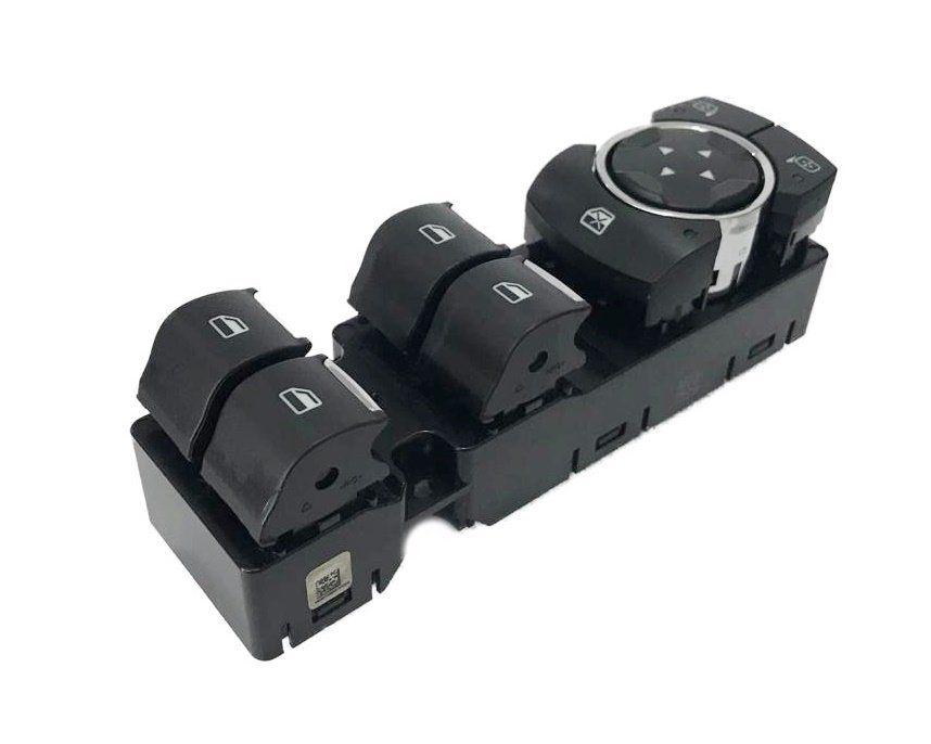 Conjunto Botão Interruptor de Vidro Elétrico e Regulagem de Retrovisor Motorista Botoeira DG9T14540ABW Ford Fusion 013 014 015 016 017 018 019