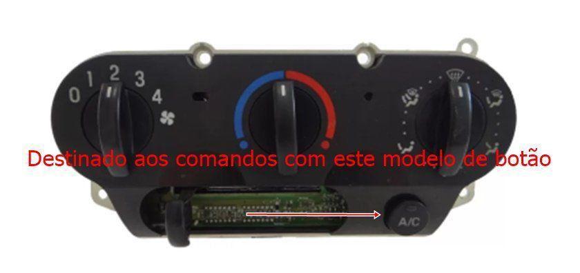 Capa Botão do Ar Condicionado do Painel Fiesta Class Rocan 03 04 05 09 07 08 09 010 011 012 013 014 015 016 Ecosport 03 04 05 06 07 08 09 010 011