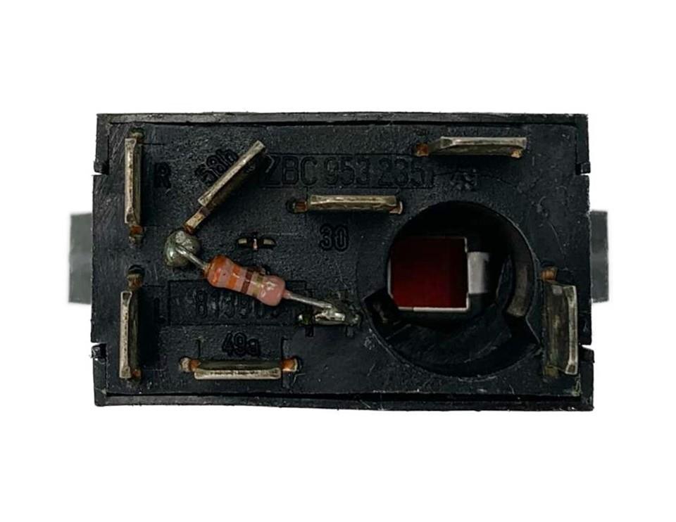 Botão do Painel Interruptor de Pisca Alerta Luz de Emergencia Zbc953235 Gol Parati Saveiro CL Santana e Quantum 87 88 89 90 91 92 93 94 95