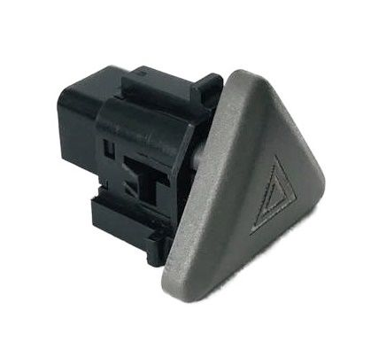 Botão Interruptor De Pisca Alerta Emblema Branco Fiat Palio Essence G5 G6 012 013 014 015 016 017 018