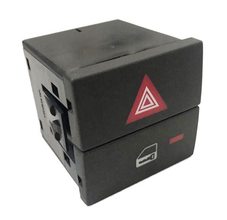 Botão Interruptor de Trava Pisca Alerta Led Alarme do Painel 93307964 Gm Vectra 06 07 08 09 010 011
