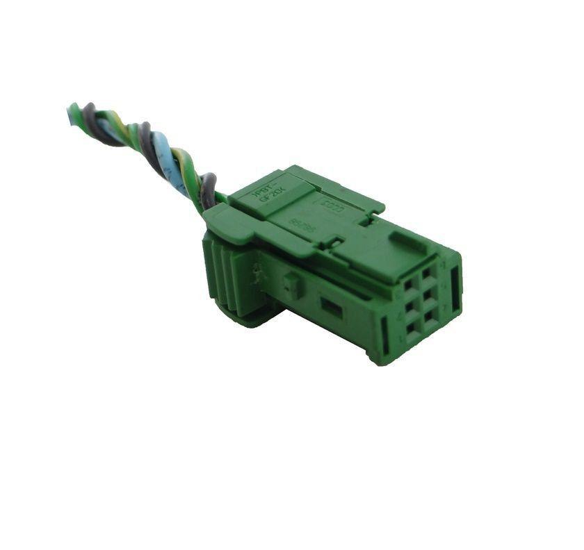 Plug Conector Chicote 6 Vias 4 Fios do Visor Inclinômetro Bussola do Painel Citroen Aircross 08 09 010 011 012 013 014 015 016