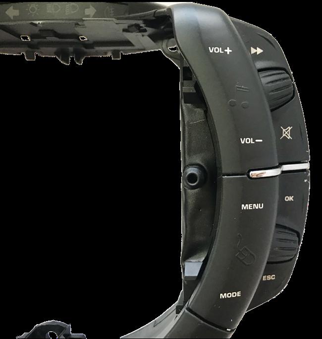 Citroen C4 08 12 Comando Cent Volante Som Buzina 96624937ZD