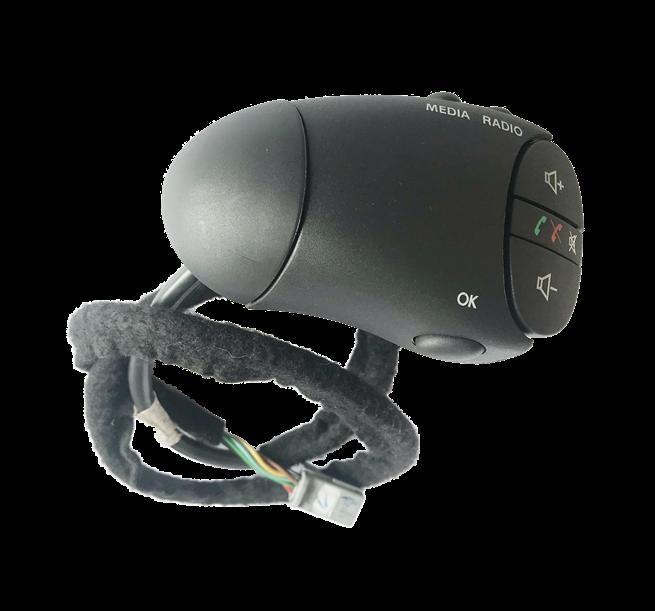 Botão Comando Controle De Som Do Volante Original 255524718r Renault Sandero 08 09 010 011 012 013 014