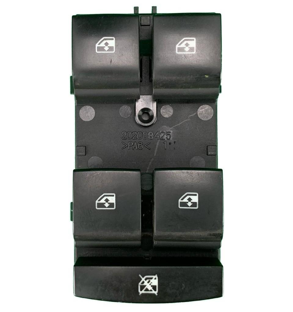 Conjunto Botão Interruptor de Vidro Elétrico E Trava Motorista 12 Pinos 95460074 Gm Cobalt Spin Sonic Tracker 012 013 014 015 016