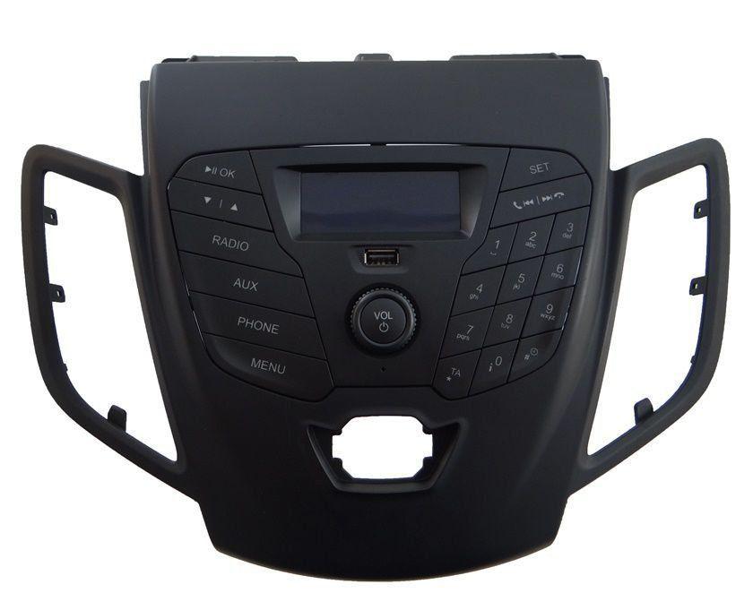 Ford New Fiesta 013 016 Moldura Central Frente Painel Radio Usb