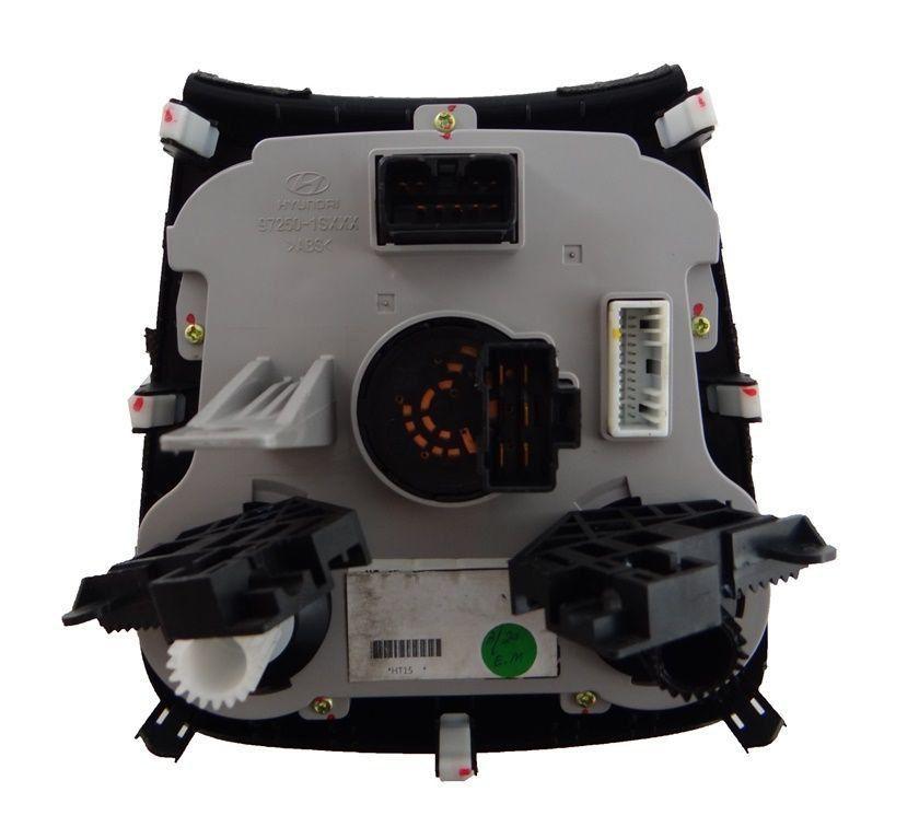 Comando Controle De Ar Condicionado Botão de Pisca Alerta e Desembaçador Modelo Com Aro Preto Do Painel Original  Hyundai Hb20 012 013 014 015 016 017 018