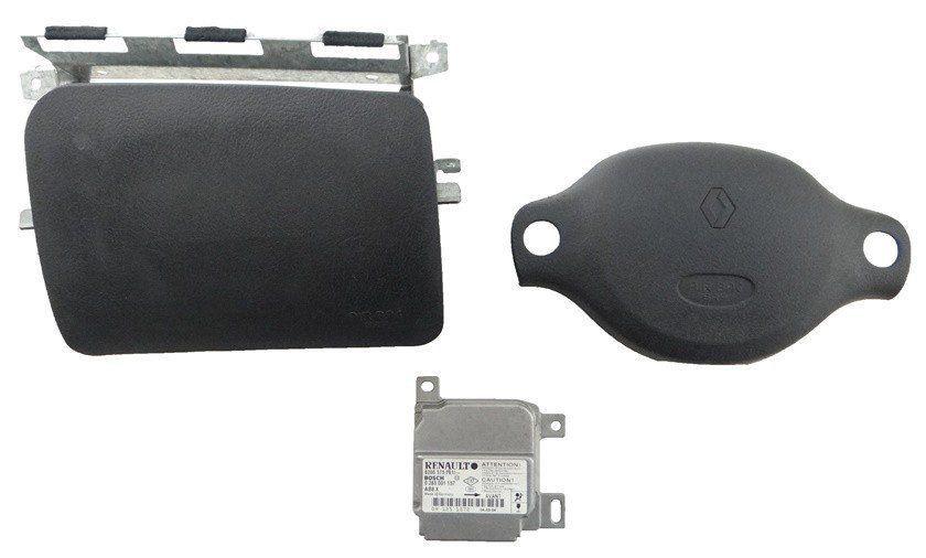 Kit Air Bag Clio 99 á 06 Bolsas E Modulo Renault Original
