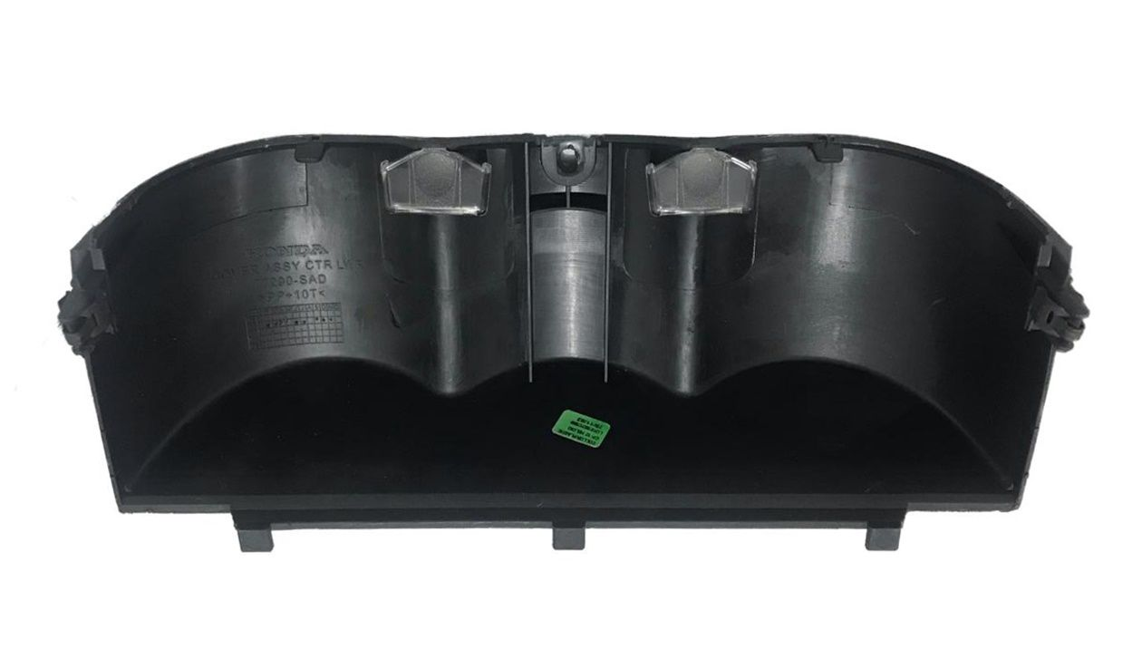 Moldura Inferior Central Do Painel Cinza Escuro Original Honda Fit 03 04 05 06 07 08