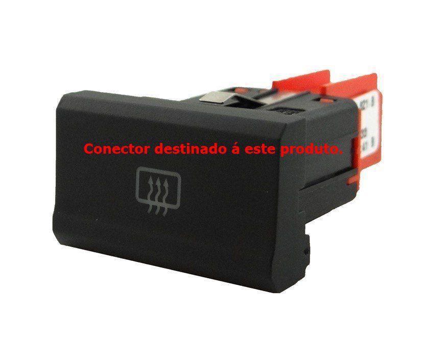 Plug Chicote Conector 4d0971636b do Botão Desembaçador Original 5u0959621b Vw Gol Saveiro Voyage G7 016 017 018 019 Ref 21267