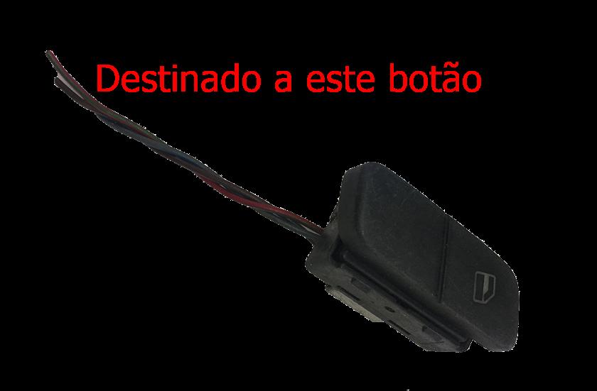Plug Conector Chicote Do Botão Interruptor De vidro Elétrico Traseiro Vw Polo Fox 03 04 05 06 07 08 09 010 011 012 013 014 015 016