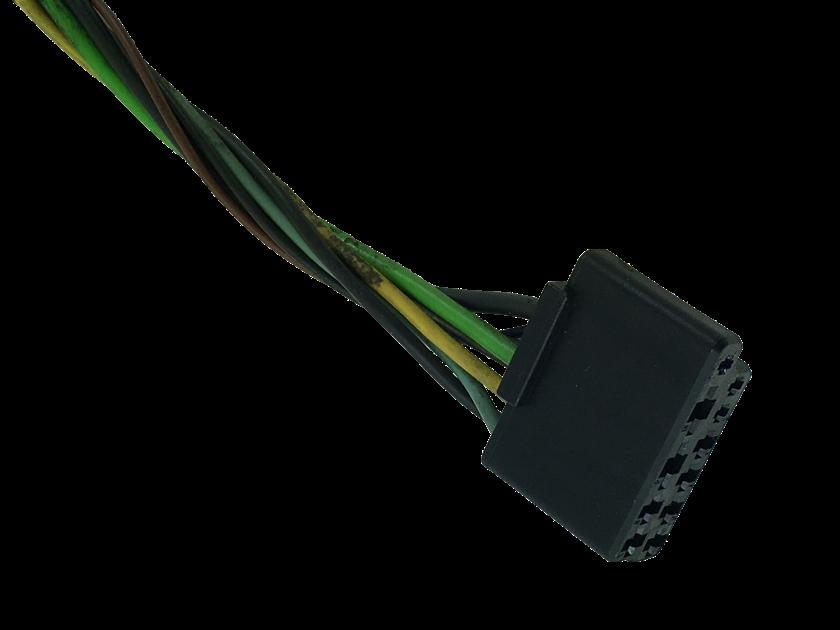 Plug Conector Chicote Do Comando Controle De Ar Quente Ventilador Desembaçador do Painel 93360357 Gm Corsa G2 Montana 03 04 05 06 07 08 09 010 011