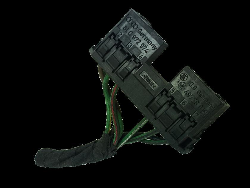 Plug Conector Chicote 8 Vias 5 Fios 8l0972974 do Interruptor Braço Haste Alavanca Chave de Limpador Vw Gol Saveiro Voyage G5 Fox Crossfox Spacefox 04 05 06 07 08 09 010 011 012 013