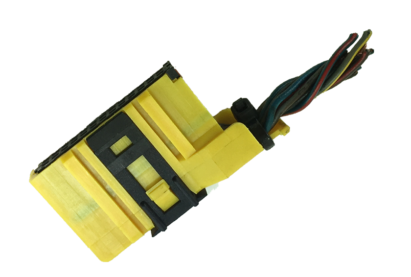 Plug Amarelo 26 pinos Conector Do Tid Relogio Digital do Painel Gm Vectra 97 05 Zafira 01 012