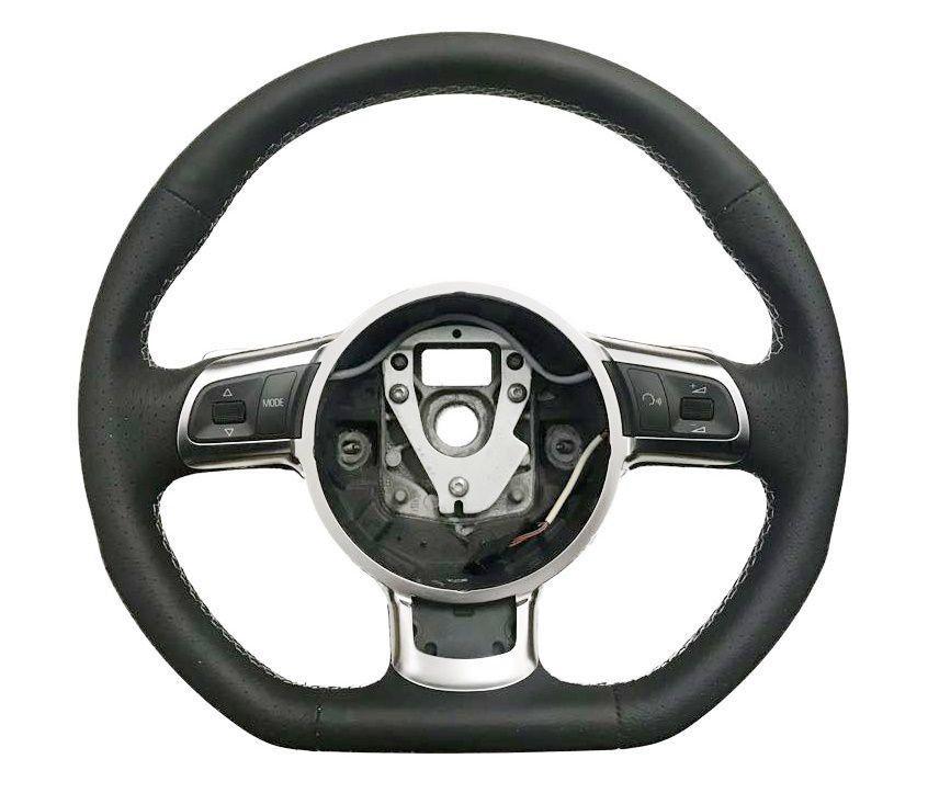 Volante Original Controle Som Couro Borboletas Audi A3 2015 2016