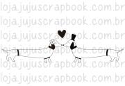 Carimbo Modelo Salsichinhas - Coleção Família para Sempre / JuJu Scrapbook