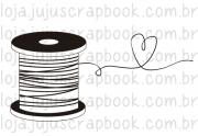 Carimbo Modelo Carretel - Coleção Love Scrap / JuJu Scrapbook