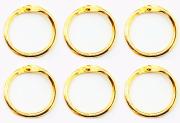 Argolas Articuladas em Metal 2,5 cm - Dourada| JuJu Scrapbook