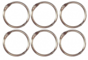 Argolas Articuladas em Metal 2cm - Prata / Juju Scrapbook