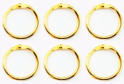 Argolas Articuladas em Metal 3 cm - Dourada| JuJu Scrapbook