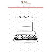 """Coleção Abraço de Urso by Estúdio 812 - Carimbo G """"Máquina de Escrever"""" / JuJu Scrapbook"""