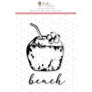"""Coleção Paraíso Tropical by Babi Kind - Carimbo Mini """"Côco Beach"""" / JuJu Scrapbook"""