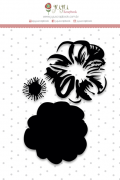 """Coleção Shabby Dreams by Babi Kind - Carimbo """"Camadas Flor"""" / JuJu Scrapbook"""