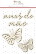 """Coleção Shabby Dreams by Babi Kind - Cartela de Enfeite """"Amor de Mãe"""" / JuJu Scrapbook"""