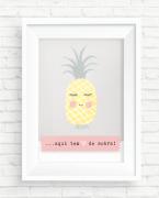 Poster Abacaxi - Coleção Meu Coração É Seu / Juju Scrapbook
