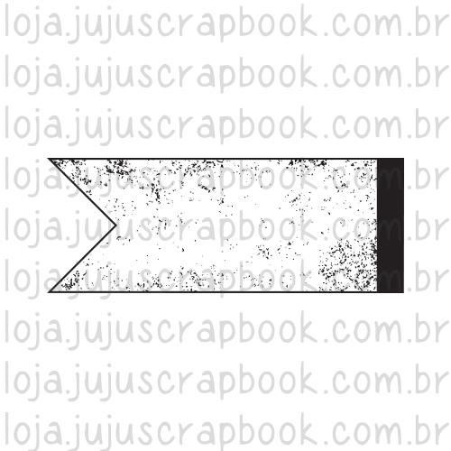 Carimbo Modelo Bandeirinha Vintage - Coleção Família para Sempre / JuJu Scrapbook  - JuJu Scrapbook