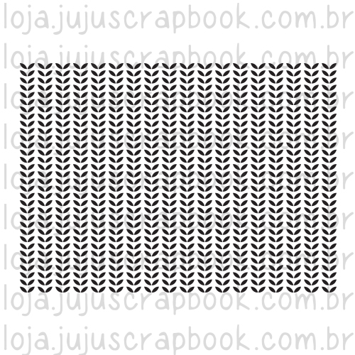 Carimbo Modelo Estampa Folhas - Coleção Love Scrap / JuJu Scrapbook  - JuJu Scrapbook