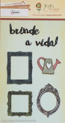 Cartela de Enfeites - Coleção Picnic / JuJu Scrapbook  - JuJu Scrapbook
