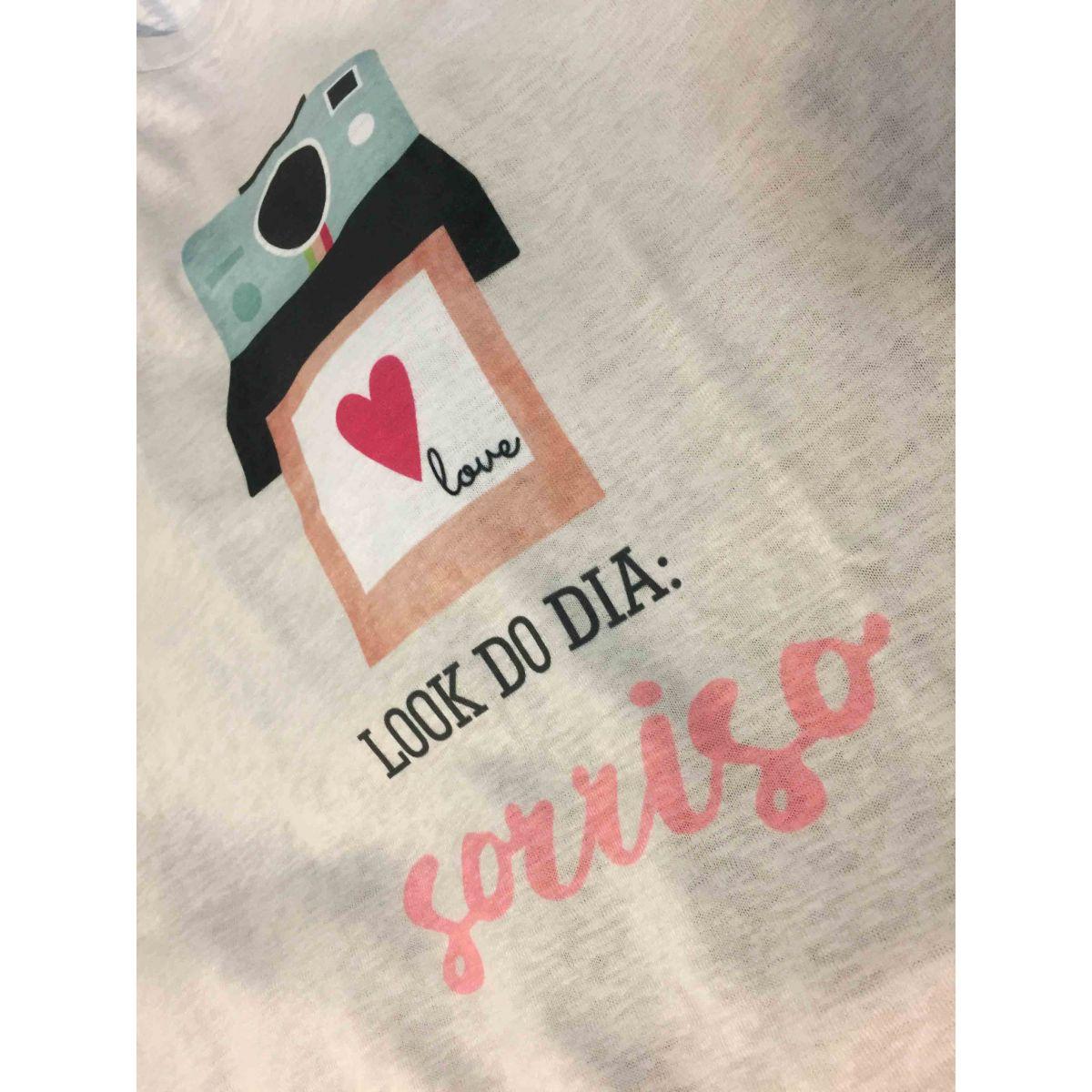 T-shirt Modelo Polaroid Love - Coleção Picnic / JuJu Scrapbook  - JuJu Scrapbook