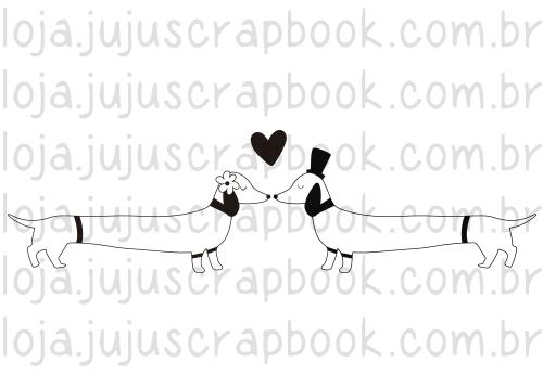 Carimbo Modelo Salsichinhas - Coleção Família para Sempre / JuJu Scrapbook  - JuJu Scrapbook