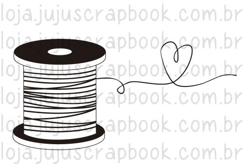Carimbo Modelo Carretel - Coleção Love Scrap / JuJu Scrapbook  - JuJu Scrapbook