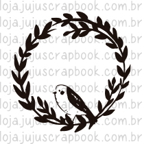 Carimbo Modelo Guirlanda Passarinho - Coleção Floresta Encantada / Juju Scrapbook  - JuJu Scrapbook