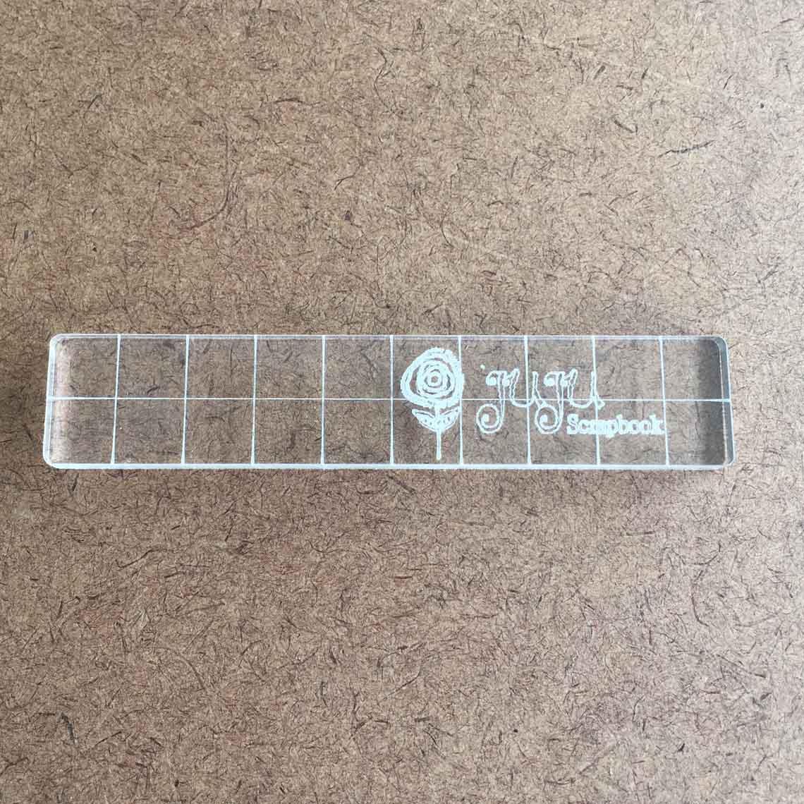 Base acrílica para carimbo - 10 cm x 2 cm  - JuJu Scrapbook