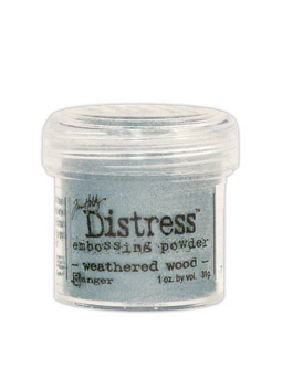 Pó para Emboss Tim Holtz - Cor Weathered Wood  - JuJu Scrapbook
