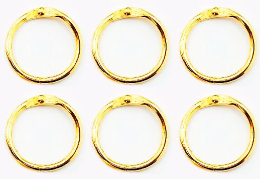 Argolas Articuladas em Metal 2,5 cm - Dourada| JuJu Scrapbook  - JuJu Scrapbook