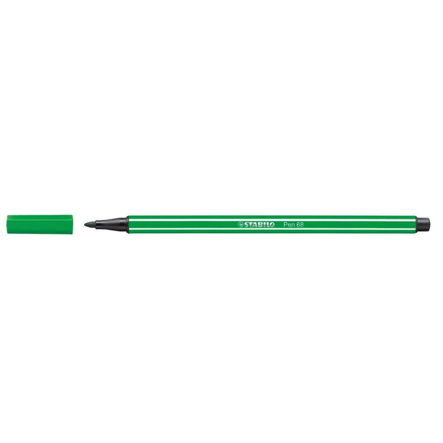 Caneta Stabilo Pen 68 - Cor Verde Esmeralda| Stabilo  - JuJu Scrapbook