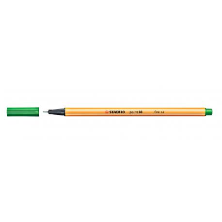 Caneta Stabilo Point 88 - Cor Verde Escuro (36) | Stabilo  - JuJu Scrapbook