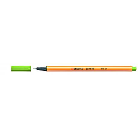 Caneta Stabilo Point 88 - Cor Verde Neon (033) | Stabilo  - JuJu Scrapbook