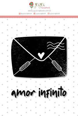 """Coleção Abraço de Urso by Estúdio 812 - Carimbo M """"Amor Infinito"""" / JuJu Scrapbook  - JuJu Scrapbook"""
