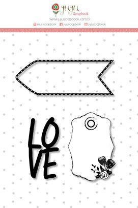 "Coleção Abraço de Urso by Estúdio 812 - Carimbo M ""Love"" / JuJu Scrapbook  - JuJu Scrapbook"